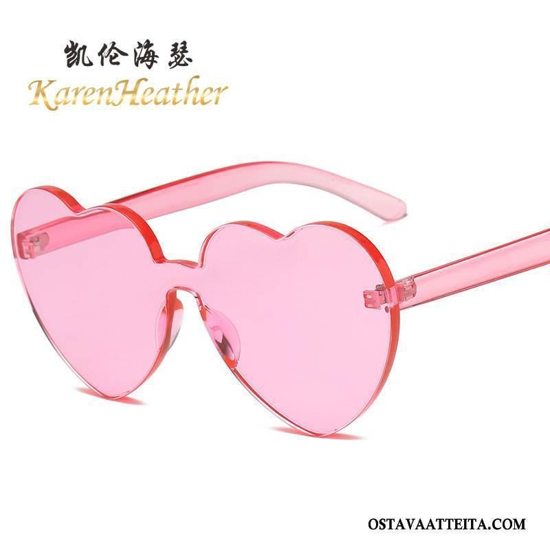 Aurinkolasit Naisten Naisille Sydän Sydän-muotoinen Pinkki Persoonallisuus Suuntaus
