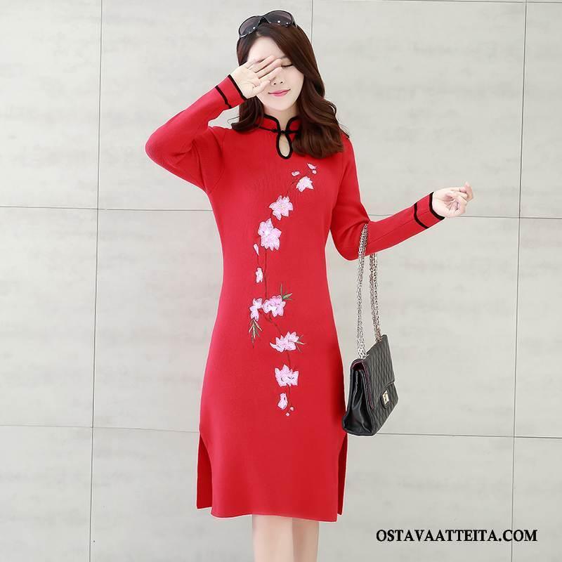 Cheongsam Naisten Tyylikäs Mukavat Muoti Punainen Casual Nuoret