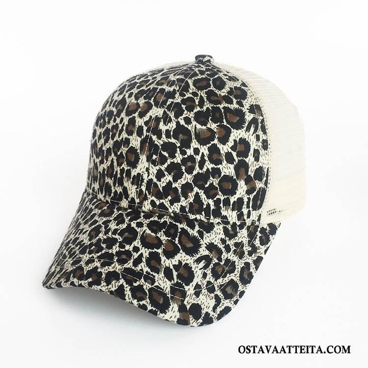 Hattu Naisten Baseball-korkki Verkko Eurooppa Naisille Poninhäntä Leopardi
