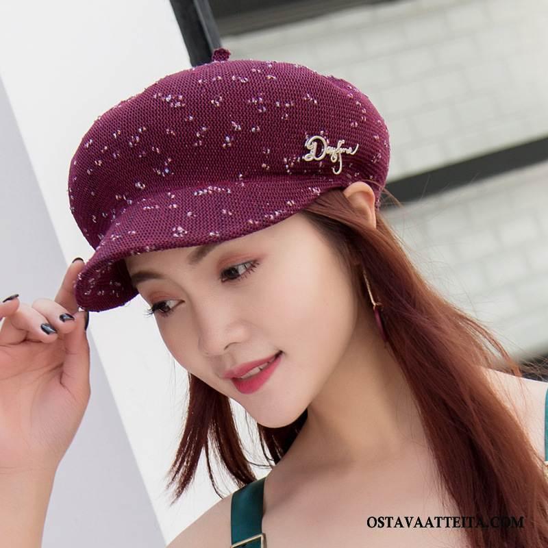 Hattu Naisten Kesä Hengittävä Väri Villahattu Naisille Kevät