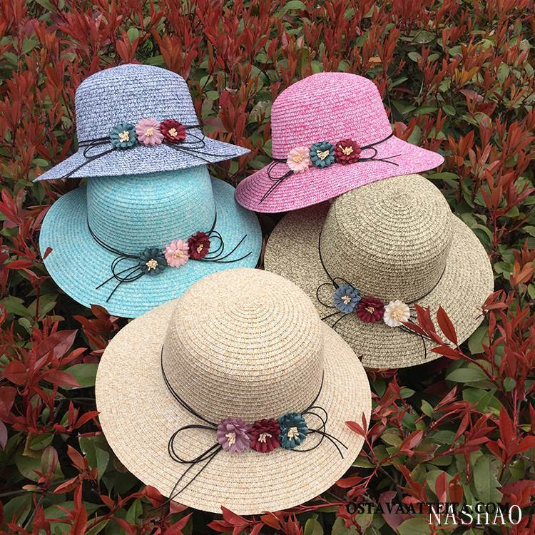 Hattu Naisten Kukkia Ranta Shade Aurinkohattu Tila Perhonen
