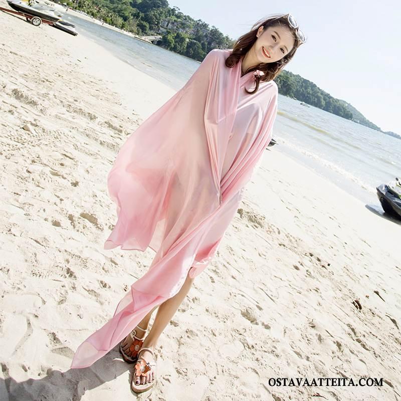 Huivi Naisten Pinkki Silkki Kesä Matkustaminen Uusi Aurinkovoiteet