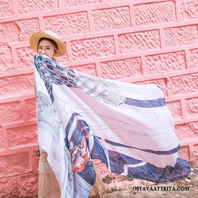 Huivi Naisten Ranta Aurinkovoiteet Painettu Naisille Pitkä Kevät