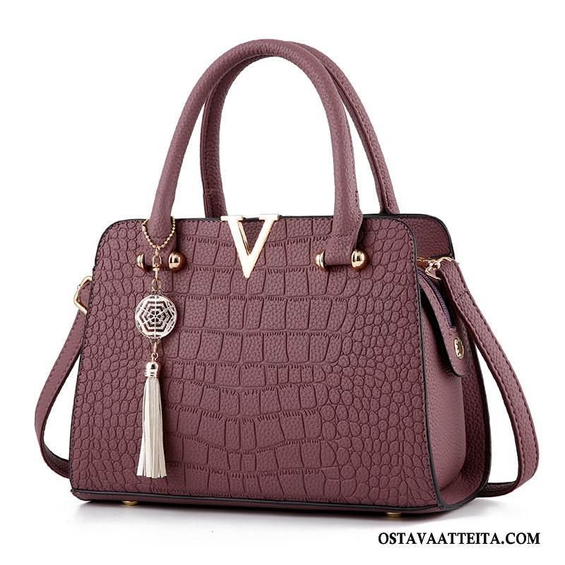Käsilaukut Naisten Tila Käsilaukku Tumman Uusi Pu Krokodilimalli