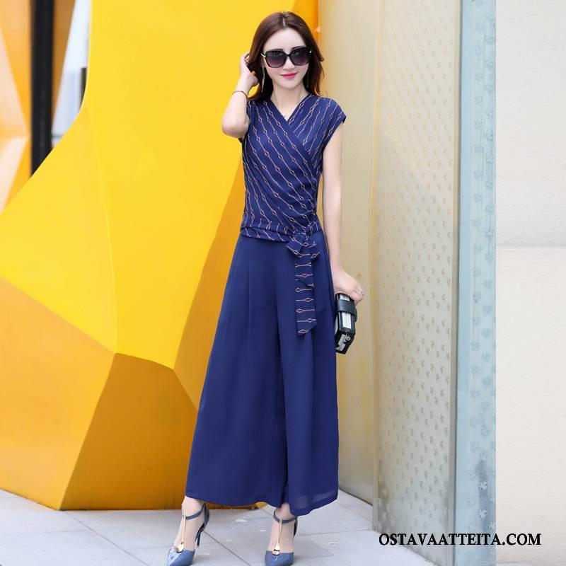 Leninki Naisten Sininen Muoti Tyylikäs Vaatteet Puhdas Yksinkertainen