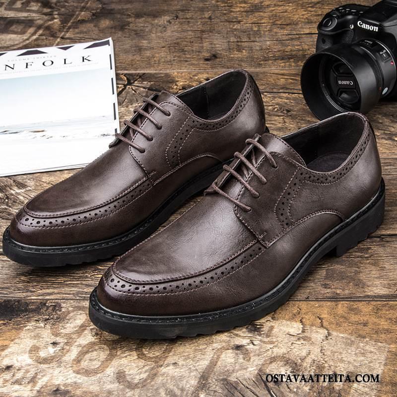 Nahkakengät Miesten Patent Leather Kaikkina Vuodenaikoina Derbies Ruskea Pukeutunut Liiketoiminta