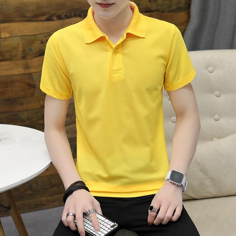 Pikeepaita Miesten T-paita Keltainen Nuoret Miehille Kesä Käänne