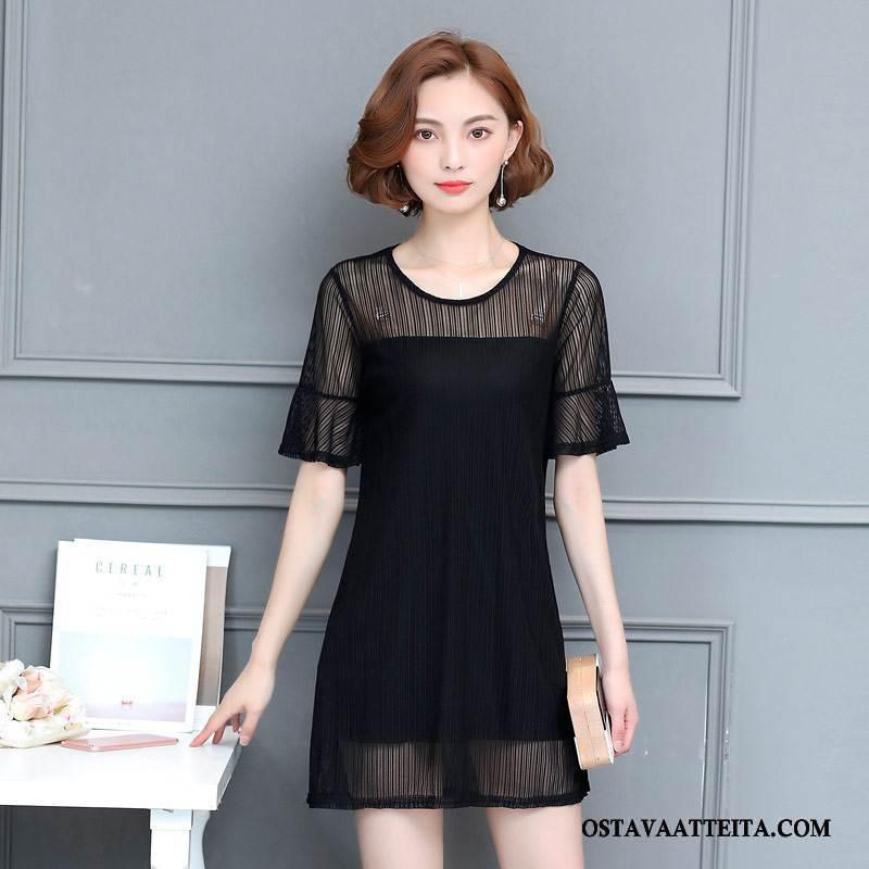 Plus Size Vaatteet Naisten Muoti Musta Suuri Koko Puhdas Naisille Leninki