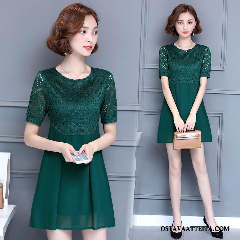 Plus Size Vaatteet Naisten Muoti Vihreä Suuri Koko Puhdas Suosittu Tyylikäs