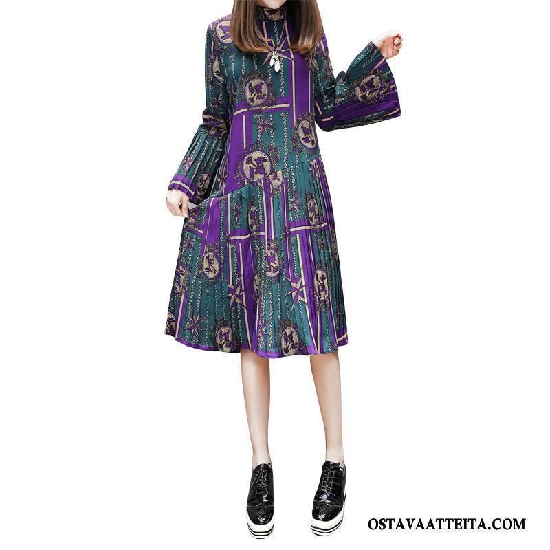 Plus Size Vaatteet Naisten Naisille Pyöreä Kaula Abstrakti Leikata Löysät Syksy