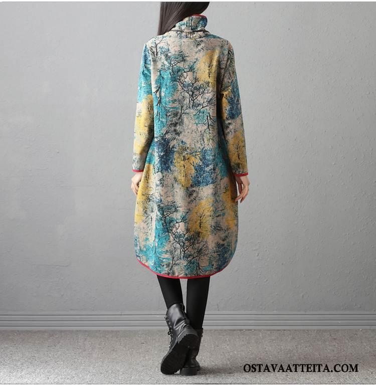 Plus Size Vaatteet Naisten Pitkässä Osassa Tyylikäs Pitkät Hihat Muoti Löysät Suuntaus