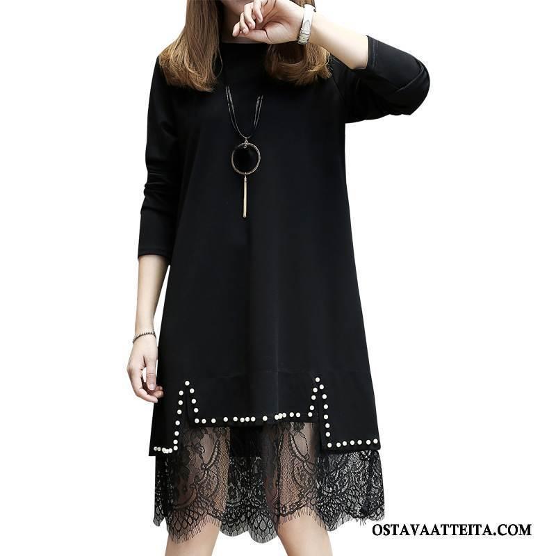 Plus Size Vaatteet Naisten Suuri Koko Muoti Musta Casual Suuntaus Niitti