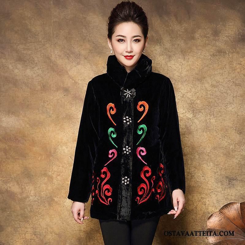 Plus Size Vaatteet Naisten Talvi Suora Puhdas Suuri Koko Korkea Kaulus Naisille