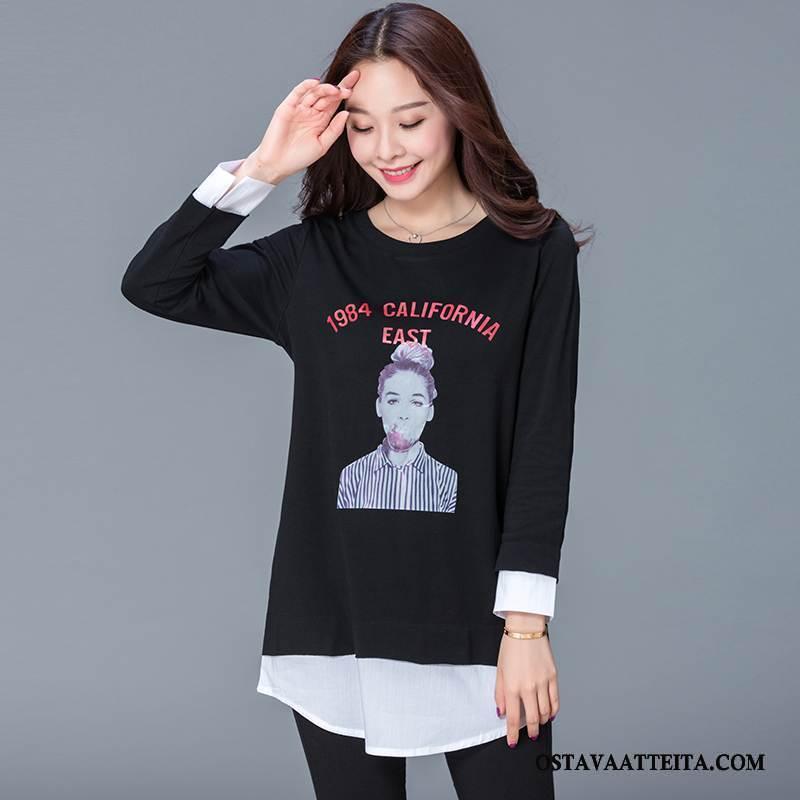 Plus Size Vaatteet Naisten Tiukka Musta Suosittu Muoti Yksinkertainen Tyylikäs