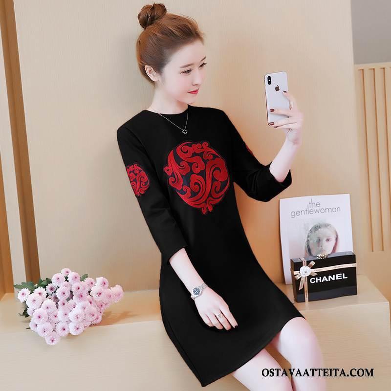 Plus Size Vaatteet Naisten Tiukka Naisille Musta Kesä Tyylikäs Leninki