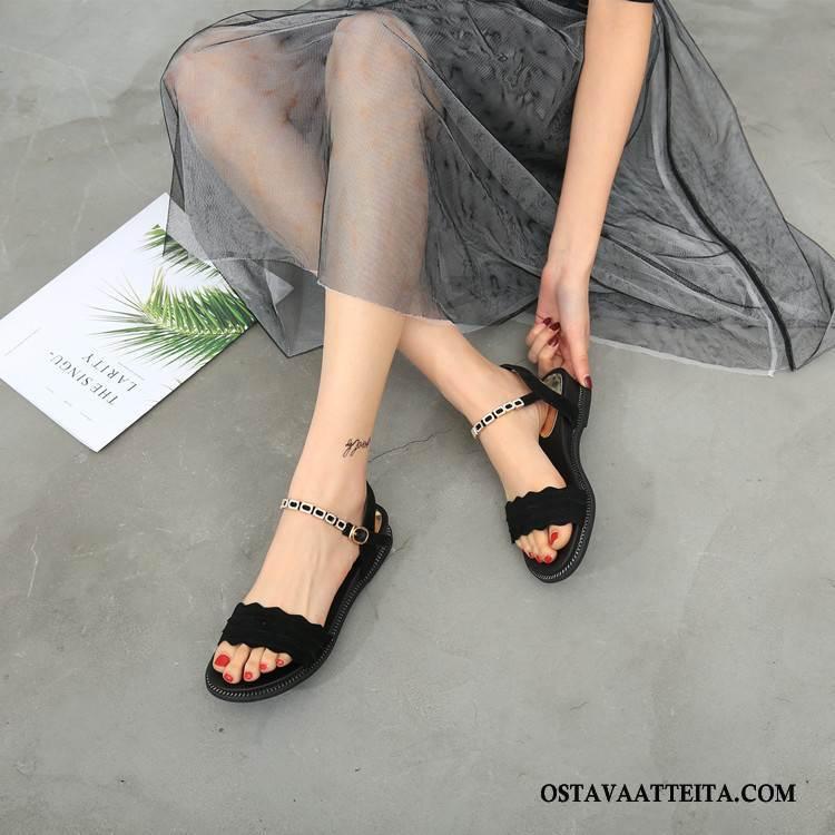 Sandaalit Naisten Kengät Kesä Pehmeä Pohja Aito Nahka Strassi Muoti