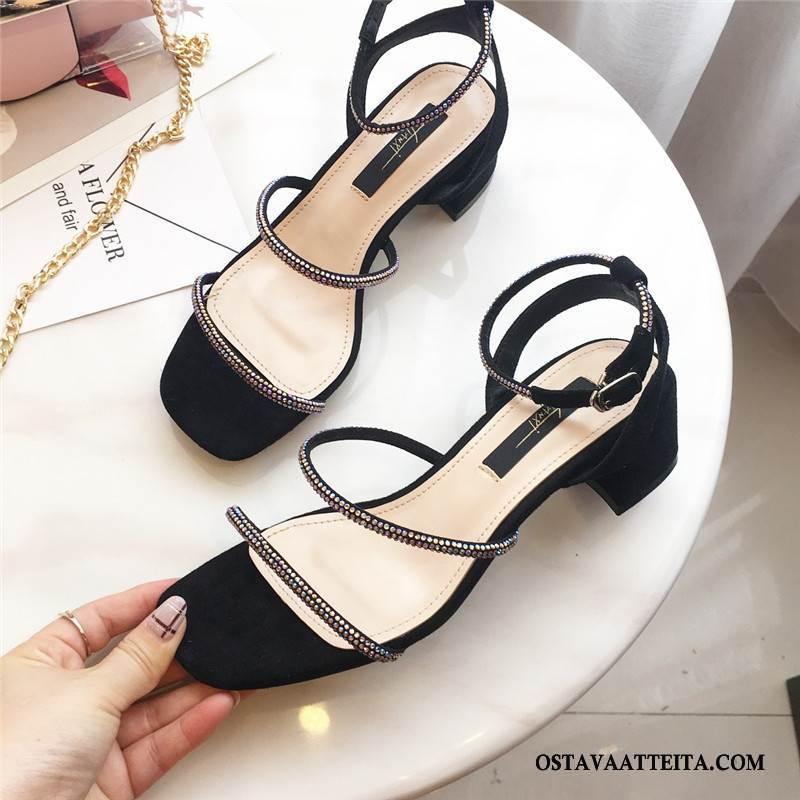 Sandaalit Naisten Kengät Naisille Nainen Neliön Pää Avoin Paksu