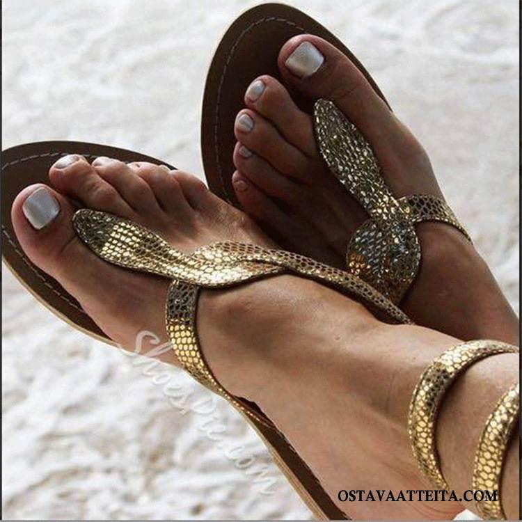Sandaalit Naisten Kuuma Tasainen Naisille Kengät Kiemurteleva Kesä