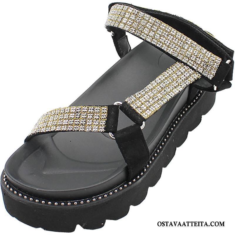 Sandaalit Naisten Naisille Nainen Niitti Kiilakorkokengät Opiskelija Derbies