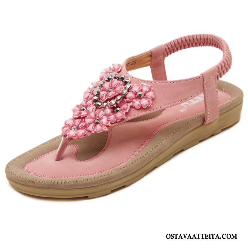 Sandaalit Naisten Naisille Opiskelija Strassi Kukka Kengät Litteät Kengät
