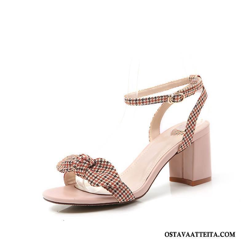 Sandaalit Naisten Paksu Avoin Perhonen Kesä Naisille Korkokengät