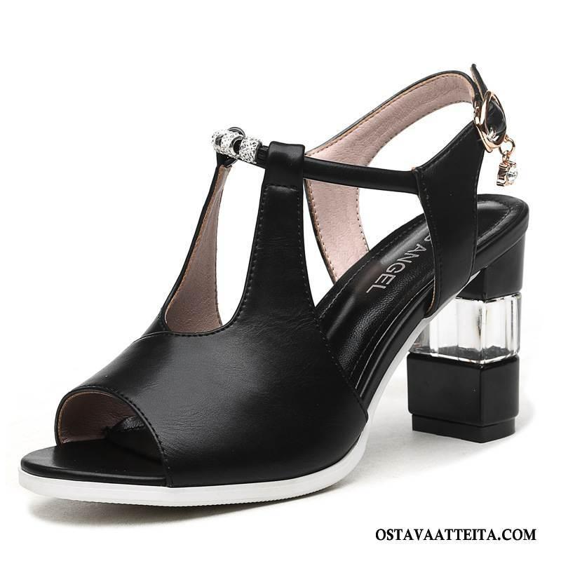 Sandaalit Naisten Paksu Kesä Naisille Kengät Korko Kaikki Ottelut
