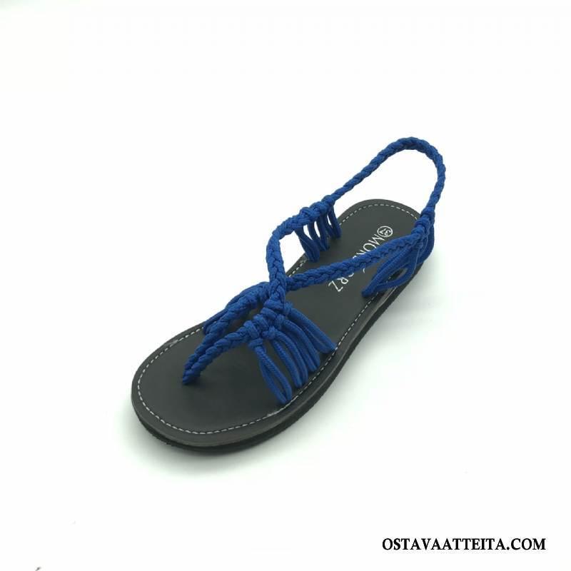 Sandaalit Naisten Tasainen Kuuma Avoin Kengät Rannalle Kesä
