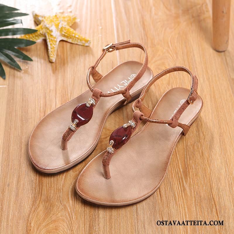 Sandaalit Naisten Tasainen Naisille Rannalle Solki Kesä Kengät
