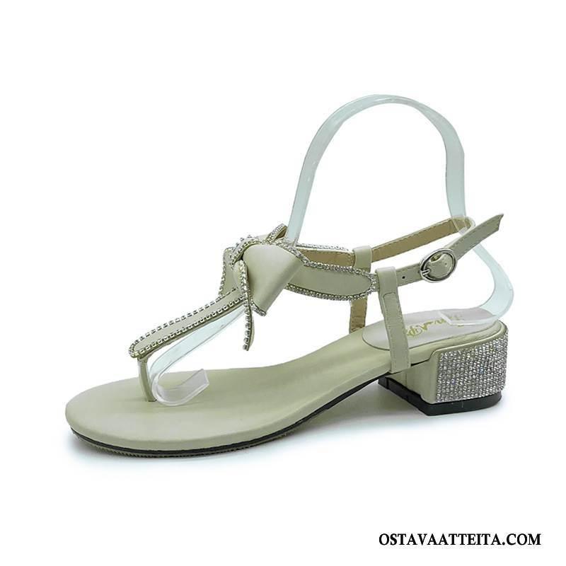 Sandaalit Naisten Timantti Naisille Kesä Strassi Kaikki Ottelut Litteät