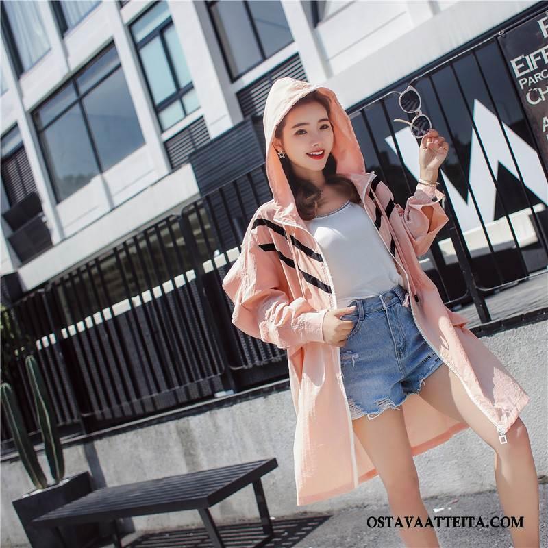 Uv Vaatteet Naisten Ohut Pitkät Hihat Muoti Pitkässä Osassa Jauhe Aurinkosuojatuotteet