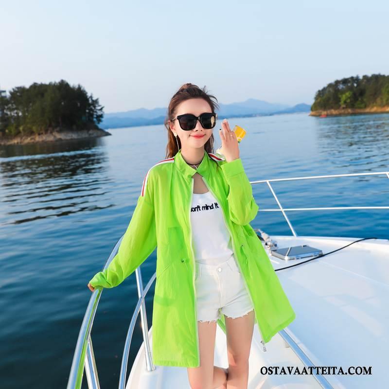 Uv Vaatteet Naisten Vihreä Pitkät Hihat Makea Pitkässä Osassa Kesä Aurinkosuojatuotteet
